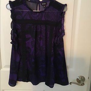Super cute purple ruffle tank top